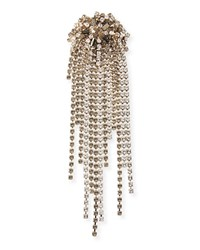 Dries Van Noten Crystal Fringe Brooch White