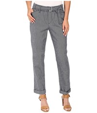 Nydj Jasmine Rolled Cuff Ankle Navy Women's Casual Pants