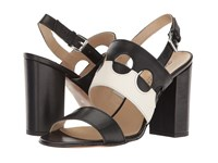 Andre Assous Fern Black Winter White Nappa Leather Women's Sandals