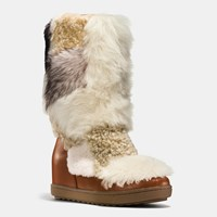 Coach Morton Bootie Saddle Natural Multi