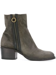 Fiorentini Baker Zip Ankle Boots Grey