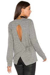 Lanston Tie Back Sweatshirt Grey