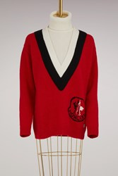 Moncler Gamme Rouge Bell Alpaca Sweater Red
