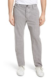 Billy Reid Commentator Straight Fit Chino Pants Grey
