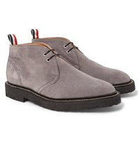 Thom Browne Suede Chukka Boots Gray