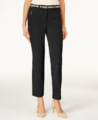 Jm Collection Petite Ankle Belted Pants Only At Macy's Deep Black