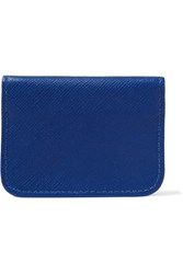 Clare V. V Textured Leather Cardholder Royal Blue