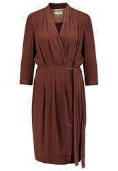 Noa Noa Summer Dress Bitter Chocolate Bordeaux