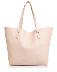 Aqua Leather Tote 100 Exclusive Light Pink Silver