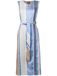 Lorena Antoniazzi Belted Shift Dress Blue
