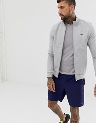 Lacoste Sport Zip Trhough Sweat In Grey
