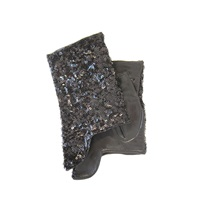 Thomasine Gloves Dublin Mitaine Short Sequins Black