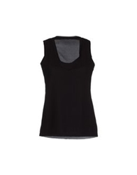 Anneclaire Sleeveless T Shirts Black