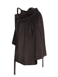 Ellery Colorado Asymmetric Gathered Top Black