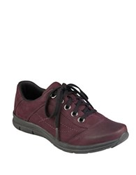 Easy Spirit Selesta Leather Lace Up Shoes Burgundy