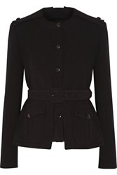Tom Ford Belted Stretch Wool Jacket Black