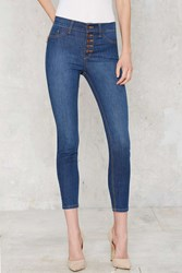 Nasty Gal High Rise Like Planes Skinny Jeans