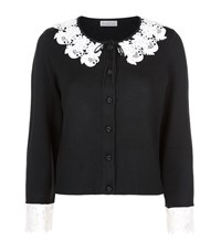 Claudie Pierlot Menestrel Lace Trim Cardigan Female Black