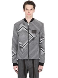 Var City Cotton And Wool Jacquard Bomber Jacket