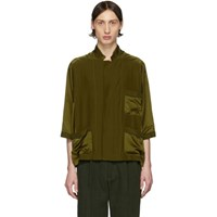 Haider Ackermann Green Short Sleeve Pyjama Shirt