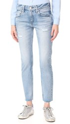 Red Card 25Th Anniversary Boyfriend Jeans Repaired Light