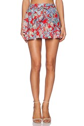 Lucca Couture High Waisted Mini Skirt Red