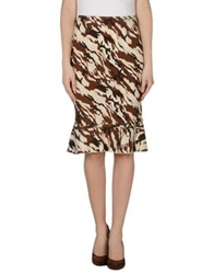 Compagnia Italiana 3 4 Length Skirts Beige