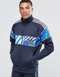 Adidas Originals Camo Track Jacket In Blue Ay8283 Blue