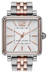 Women's Marc Jacobs 'Vic' Bracelet Watch 30Mm Silver Rose Gold