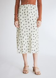 Farrow Juliette Floral Skirt In Ivory Size Extra Small