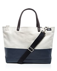 Jack Spade Coal Dipped Canvas Tote Bag Natural Navy