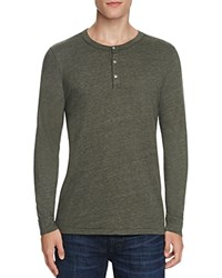Sol Angeles Long Sleeve Henley Tee Military