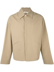 Romeo Gigli Vintage Buttoned Jacket Nude And Neutrals