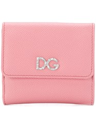 Dolce And Gabbana Small Continental Wallet Pink And Purple