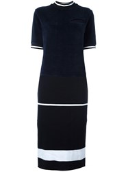 Each X Other Velvet Boxy Dress Blue