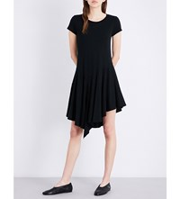 Miharayasuhiro Asymmetric Hem Jersey Dress Black