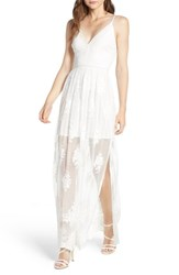 Socialite Embroidered Maxi Dress Ivory