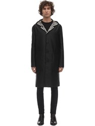 Fendi Reversible Hooded Nylon Coat Black