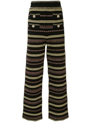 Alice Mccall Striped Straight Leg Trousers 60
