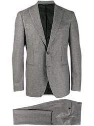 Tonello Micro Check Suit Grey