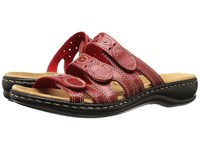 Clarks Leisa Cacti Q Red Leather Women's Sandals