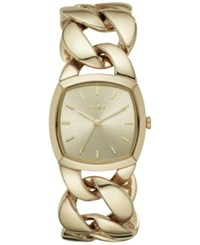 Dkny Women's Chanin Gold Tone Stainless Steel Chain Bracelet Watch 32Mm Ny2567