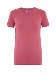 Falke V Neck Jersey Performance T Shirt Pink