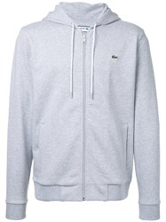 Lacoste Zipped Hoodie Men Cotton 6 Grey