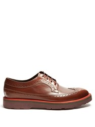 Paul Smith Grand Raised Sole Leather Brogues Brown