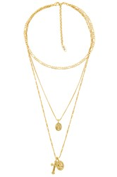 Luv Aj X Sabo Luxe The Isidore Cross Charm Necklace Gold