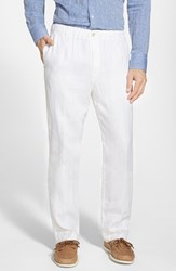 Men's Tommy Bahama 'New Linen On The Beach' Easy Fit Pants White
