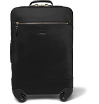 Paul Smith Leather Trimmed Shell Carry On Suitcase Black
