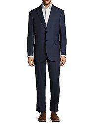Brioni Wool And Silk Suit French Blue