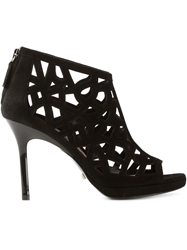 Diane Von Furstenberg Cut Out Booties Black